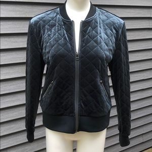 Quilted Velour Baseball Jacket by Kenzie EUC sz M